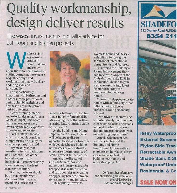 Quality workmanship, design deliver results